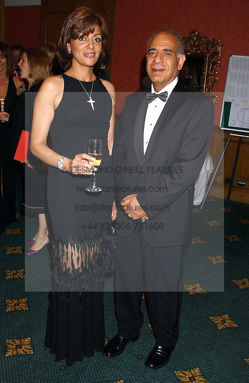 DR MAGDY &amp; DR RITA ISHAK he was chairman of the ball at the Butterfly Ball in aid of the NSPCC held at The Intercontinental Hotel, Park Lane, London on 9th September 2005.<br /><br />NON EXCLUSIVE - WORLD RIGHTS