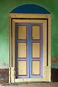 Front door, a home in Nagore. Tamil Nadu.