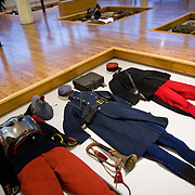 French WWI uniforms at the Museum of the Great War (Historial de la Grande Guerre) in Péronne, France