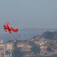 The Oracle plane perform Acrobatic maneuvers during the air show at Fleetweek in San Francisco.
