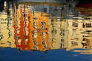 France, Languedoc Roussillon, Hérault, Sète, le canal, reflets