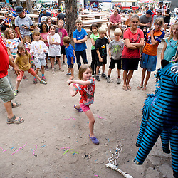 A pinata contest was held for the kids.
