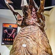 """Exploding head graboid puppet from the 1990 film """"Tremors"""" starring Kevin Bacon. Fans of movies and television shouldn't miss the Museum of Western Film History, 701 S. Main Street, Lone Pine, California, 93545, USA. (Formerly called the Beverly and Jim Rogers Museum of Lone Pine Film History.) Web site: www.lonepinefilmhistorymuseum.org"""