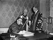 1957 - 11/04 Conferring of Honorary Degrees at Iveagh House