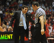 "Memphis head coach Josh Pastner vs. Mississippi  in NIT second round basketball action at the C.M. ""Tad"" Smith Coliseum in Oxford, Miss. on Friday, March 19, 2010. Ole Miss won 90-81."