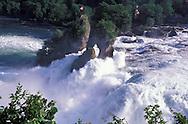 Rheinfall, Falls of the Rhine River, Schaffhausen Canton, Switzerland
