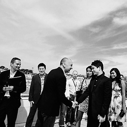 Kinatay's crew (dir. Brillante Mendoza) arriving the photocall. Official screening day at the 62th Cannes Film Festival. France. 17 May 2009. Photo: Antoine Doyen