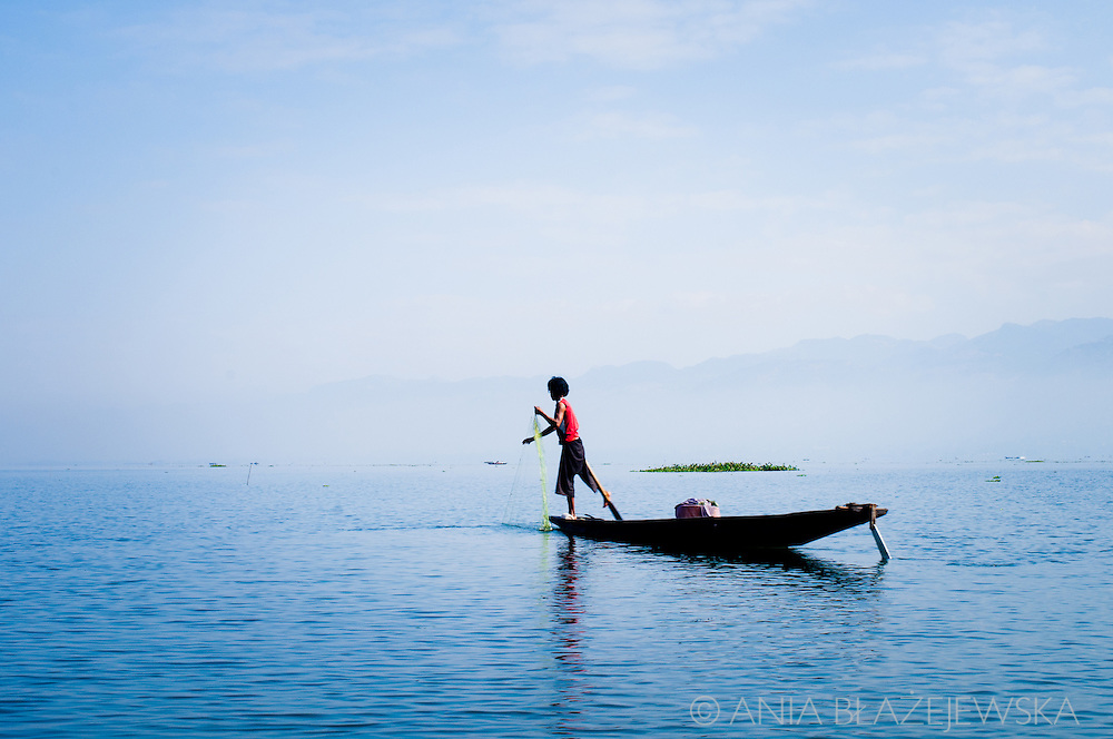 Burma/Myanmar, Inle Lake. Fishermen from Inle Lake.