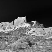Mormon Rocks - North View - Infrared Black & White