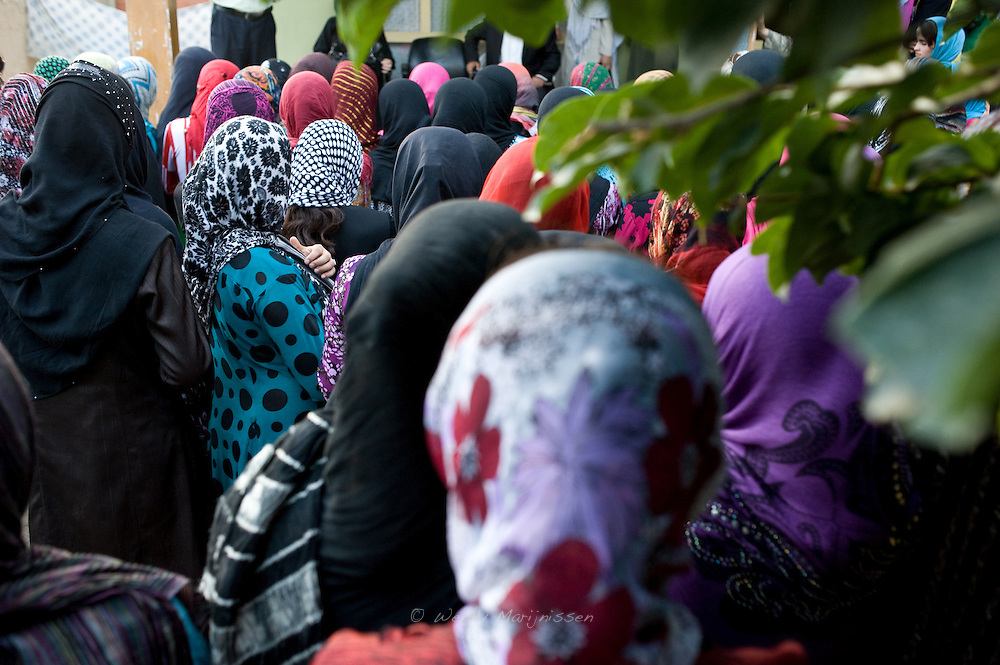 Dozens of female University Students listen to the speech of MP Ms. Fawzia Koofi. Afghanistan has long had one of the poorest education records in the world, and up until 2001 under Taliban rule girls in Afghanistan were denied the right to go to school. Faizabad, Afghanistan, 2012