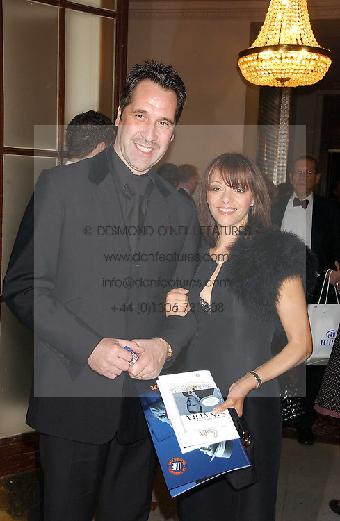 Footballer DAVID SEAMAN and his wife DEBBIE at a party following the world premier of the musican Sinatra at The London Palladium, held at The Palm Court, Waldorf Hotel, Aldwych, London WC2 on 8th March 2006.<br /><br />NON EXCLUSIVE - WORLD RIGHTS