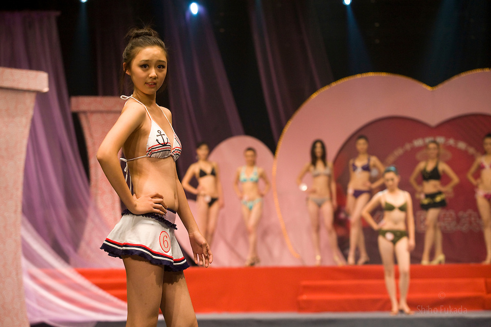 """Pen Wei Fei, 16, participates in """"Miss. International"""" beauty contest in Beijing, China, Nov. 7, 2009."""
