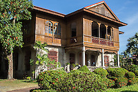 "Balay Negrense - Ancestral home of the Gaston family of French descent, who promoted sugar cane production in Negros Occidental.  After the death of Victor Gaston the family abandoned the house.  It fell into ruin but during the 70s concerned people in Silay repaired the home.  The architecture is a typical example of ""Bahay na bato"" or house of stone, with European colonial influences."