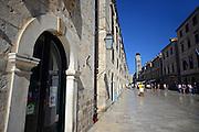 Main street Placa Stradun in Dubrovnik, Croatia