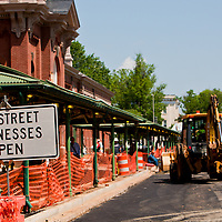 Seventh Street during the recent reconstruction of Eastern Market.