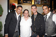 l to r: Shane Ward, Michelle Cirillo, Donnie Klang and Shawn Ward at 'Spring on Mulberry Block Party'  celebration for Shane and Shawn Shoes sponsored by Bombay Sapphire and held at The Shane & Shawn Store in New York City on May 7, 2009