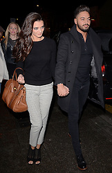 Emma Jane McVey and Mario Falcone attend as TV personality Ferne McCann launches her blog 'Fashionable Foodie' at Charlie's Deli, High Street, Brentwood, Essex on Thursday 5 February 2015