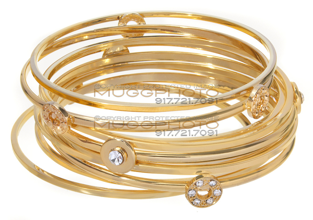 gold bracelets stacks