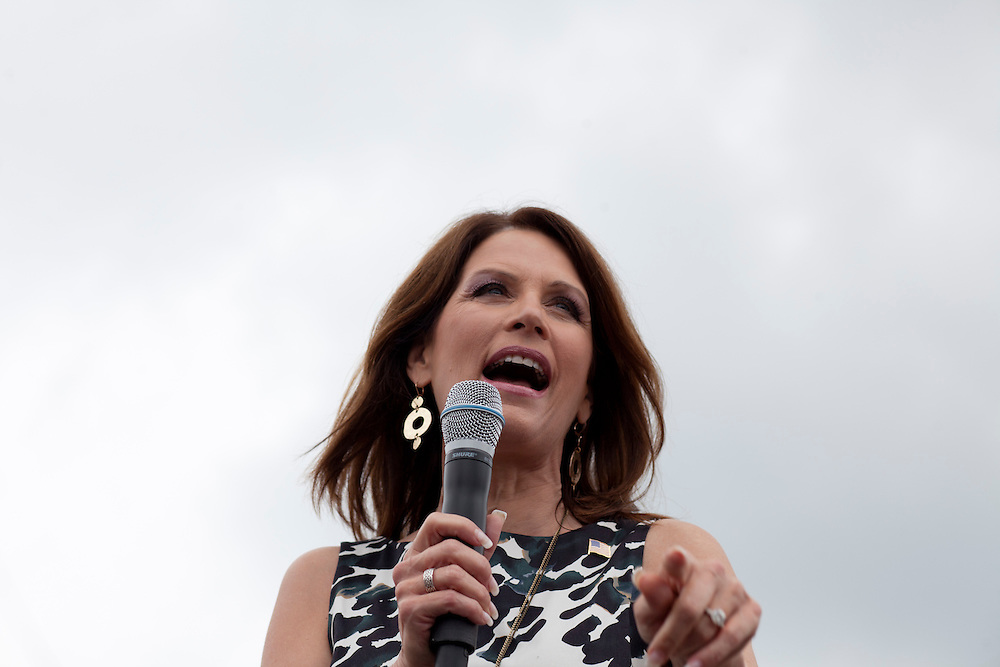 Republican presidential hopeful Michele Bachmann campaigns on Friday, August 5, 2011 in Newton, IA.