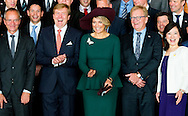 30-10-2014 - TOKYO - King Willem Alexander and Queen Maxima visits the Meeting Current Investment Development  on day 2 , during a 3 days State visit of king Willem alexander and queen Maxima to Japan tokio .  COPYRIGHT ROBIN UTRECHT