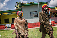 Young Jamaican couple at the Twelve Tribes of Israel headquarters.  In 1948, the late Ethiopian Emperor Haile Selassie I, known as Ras Tafari (or Ras Teferi) before his coronation, donated 200 hectares (500 acres) to members of the Rastafarian movement, the Ethiopian World Federation.  This grant permitting settlers from Jamaica and other Caribbean islands to settle here but it was not until 1964 that the first settler, Gladstone Robinson arrived in Shashemene.  At one time, the Rasta population swelled past 2,000 but now there are fewer than 300 Rastafarians living here.  Shashemene, Ethiopia.