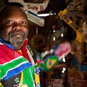2 July 2009, Alfred Baloyi, 53, a die-hard Kaizer Chiefs supporter, is credited with making the first makarapa back in 1979.