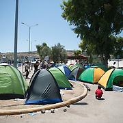View of of Kara Tepe camp.