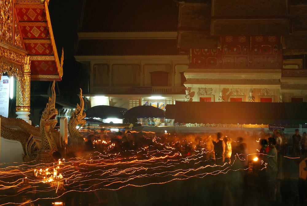 Machka Bucha as celebrated in Chiang Mai, north Thailand.