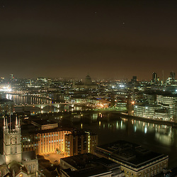 Southwark Cathedral and The Thames at night