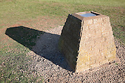 Cement topograph at the summit of Leckhampton Hill, near Cheltenham Spa Town, Gloucestershire