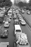 Nairobi, Kenya, is a thriving modern city with a huge traffic problem especially at rush hour. Congestion is bad but emmission controls are relaxed and many cars in operation are not road worthy.