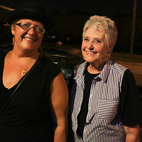 Amy Usry, left, and Connie Usry pose for a photo Friday July 25, 2014 during the Blues Cruise After Party at The Rusty Nail in Wilmington, N.C. (Jason A. Frizzelle)
