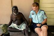 Biuku Gasa (scout that found JFK) with Louise Curragh - Kauvi Island - Roviana Lagoon The Solomon Islands 30/06/05