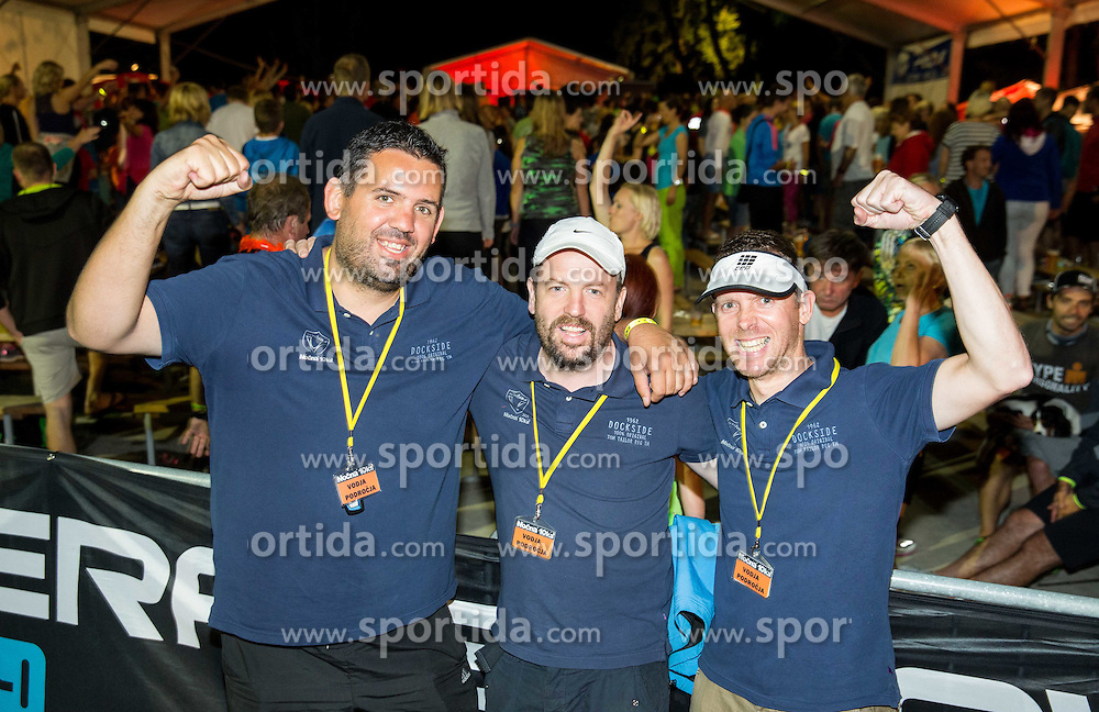 Igor Zonik, Marko Roblek and Mitja Stern at Nocna 10ka 2015, traditional running around Bled's lake, on July 11, 2015 in Bled,  Slovenia. Photo by Vid Ponikvar / Sportida