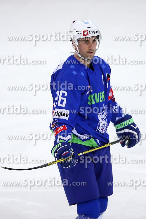 Sabahudin Kovacevic of Slovenia during friendly ice hockey match between Slovenia and Croatia, on April 12, 2016 in Ledena dvorana, Bled, Slovenia. Photo By Matic Klansek Velej / Sportida
