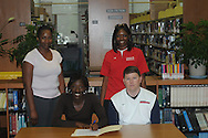 Lafayette High basketball player Sherneal Thompson signs to play basketball at Northwest Community College on Monday, April 26, 2010.