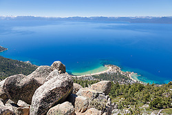 """""""Boulders above Sand Harbor 1"""" - These boulders were photographed above Sand Harbor, Lake Tahoe."""