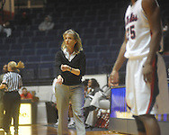 Ole Miss coach Renee Ladner vs. Mississippi Valley State in women's college basketball action in Oxford, Miss. on Wednesday, December 15, 2010.