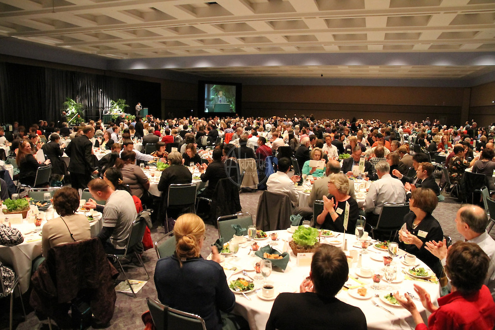 """Solid Ground 10th Annual """"Building Community to End Poverty"""" Luncheon, May 2010 at the Washington State Convention and Trade Center. Keynote speaker: food justice activist, eco chef, author, and Kellogg Fondation Fellow, Bryant Terry."""