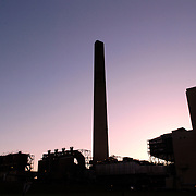 Merom Generating Station, a 1080-MW rated coal-fired power plant owned by Hoosier Energy, located near Merom, Indiana.