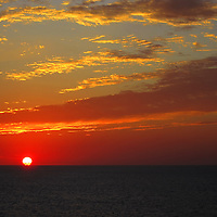 Sunset in the Gulf of Mexico.
