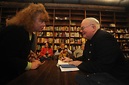 "Author Pat Conroy (right) talks with Katherine Nuccio as he appears at Off Square Books to sign and talk about his book ""My Reading Life"" in Oxford, Miss. on Wednesday, November 3, 2010."
