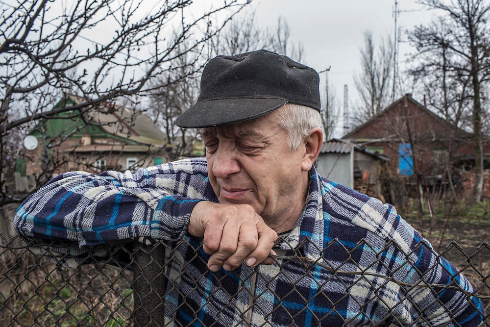 Pyotr, a local resident, on Sunday, March 27, 2016 in Debaltseve, Ukraine.