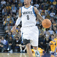 04 October 2010:  Minnesota Timberwolves forward Michael Beasley #8 brings the ball upcourt during the Minnesota Timberwolves 111-92 victory over the Los Angeles Lakers, during 2010 NBA Europe Live, at the O2 Arena in London, England.