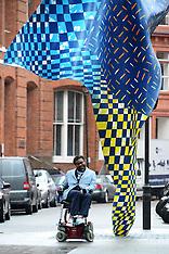 APR 07 2014 Yinka Shonibare unveils sculpture