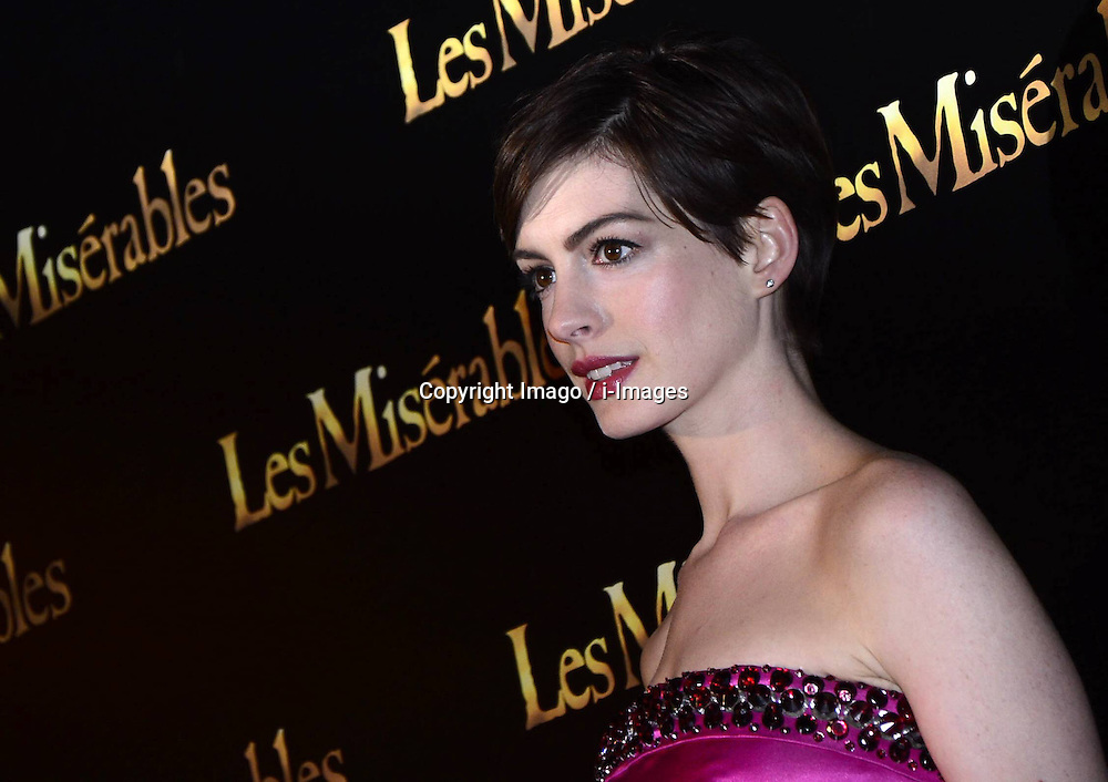 Actress Anne Hathaway attends the 'Les Miserables' Paris Premiere as part of Avenue Du Cinema Festival at Cinema Gaumont Marignan, Paris, France, February 6, 2013. Photo by Imago / i-Images...UK ONLY