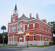 A photomanipulated, cleaned up view of Brunswick Georgia's City Hall.