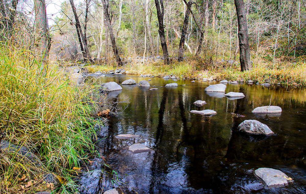 This beautiful creek runs between the cities of Flagstaff and Sedona, in Arizona.