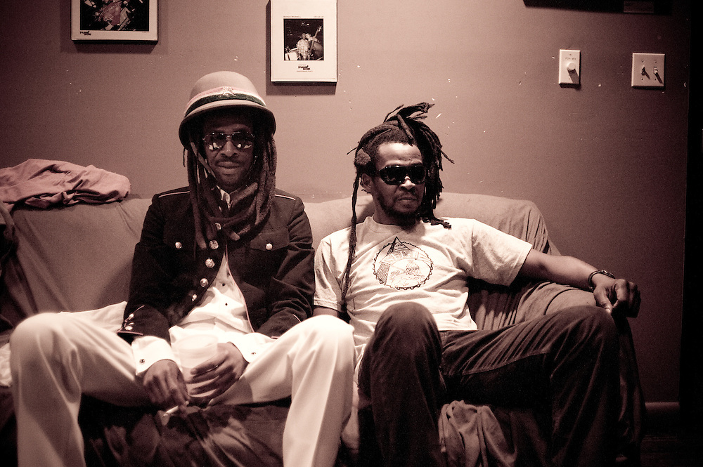 Zeebo and Jah Rootz, backstage at The 8x10, Baltimore, MD.