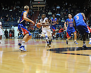 "Ole Miss' Jarvis Summers (32) vs. SMU at the C.M. ""Tad"" Smith Coliseum in Oxford, Miss. on Tuesday, January 3, 2012. Ole Miss won 50-48."